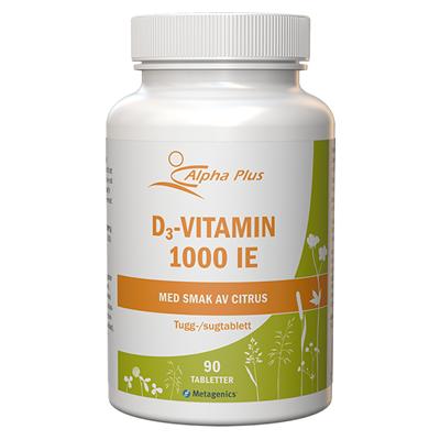 D3-vitamin 1000 IE 90 tab Med Smak Av Citron burk