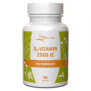 D3-vitamin 2500 IE 90 tab Med Magnesium burk