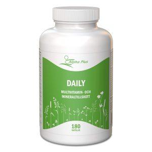 Daily 180 kap Multivitamin Och Mineraltillskott burk