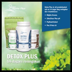 DetoxPlus 14 Dagar Reningskur produktpaket
