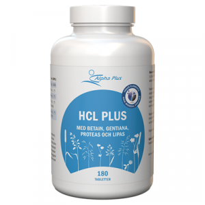 HCL Plus 180 tab Med Betain, Gentiana, Proteas Och Lipas burk