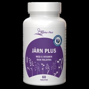 Järn Plus 60 tab Ferrochel Järnbisglycinat Med C-vitamin Och Folsyra burk