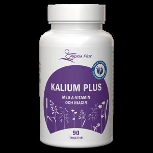 Kalium Plus 90 tab Med A-vitamin Och Niacin burk