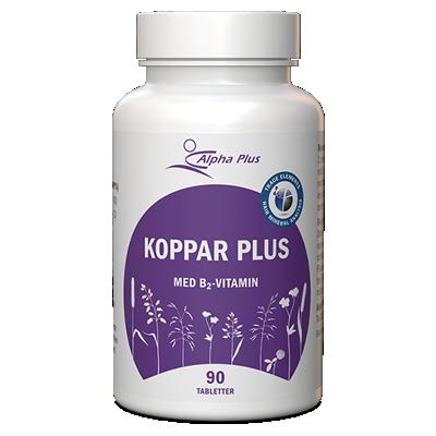 Koppar Plus 90 tab Med B2-vitamin burk