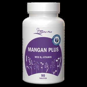 Mangan Plus 90 tab Med B1-vitamin burk