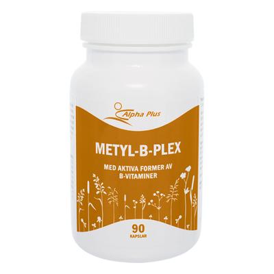 Metyl-B-Plex 90 kap B1-vitamin, B2-vitamin, Niacin, B6-vitamin Och B12 burk