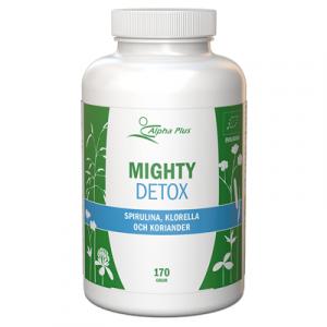 Mighty Detox 170 g EKO Spirulina Klorella Och Koriander burk