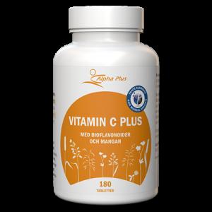 Vitamin C Plus 180 tab Med Bioflavonoider Och Mangan burk