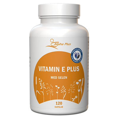 Vitamin E Plus 120 kap Med Selen burk