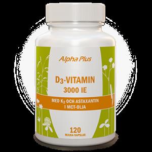 D3-vitamin 3000 IE + K2 120 kap burk