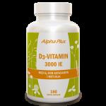 D3-vitamin 3000 IE + K2 180 kap burk