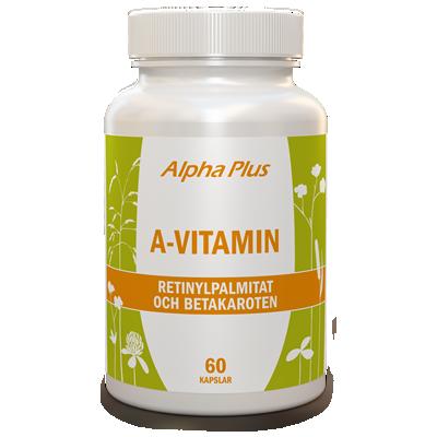 A-vitamin 60 kapslar burk